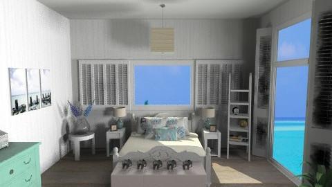 BeachHouse_ - Rustic - Bedroom - by HanneLenaerts