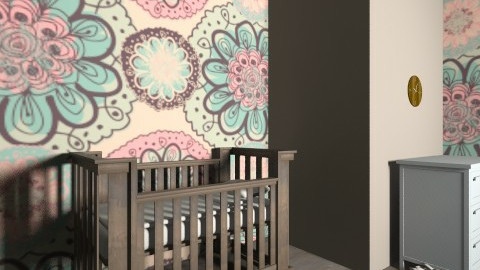Pink baby room - Kids room - by vydrovamisulka1