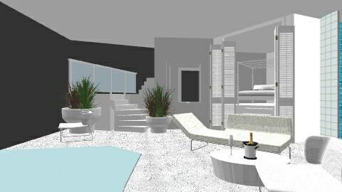 Clinical Greek terrace - Minimal - Garden - by cristianyansen