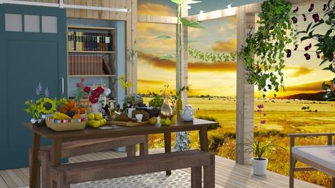 Deck Banquet - Modern - Dining room - by Jessica Fox