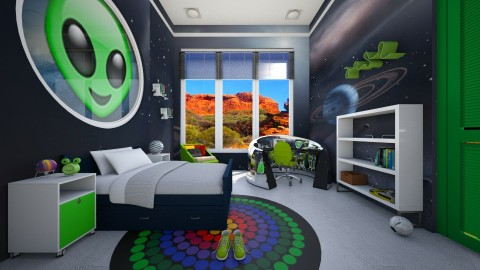 Alien - Kids room - by yonvie