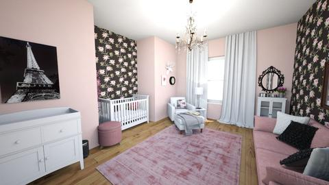 pink - Feminine - Kids room - by Mari Lara_978
