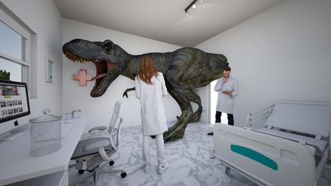 T Rex Tummy Ache - Retro - Office - by nerogravity