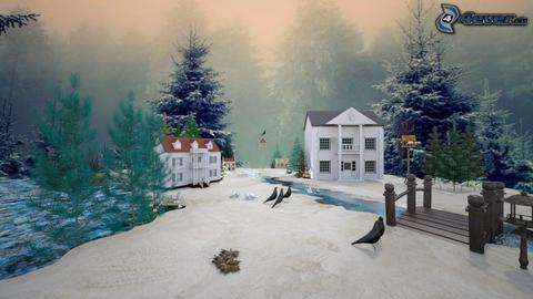 snowy landscape - by ilcsi1860