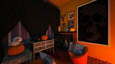 Halloween spoop - Living room - by HIHELLOHI