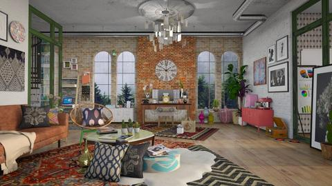 Bohemian Office - Eclectic - Office - by Roquette