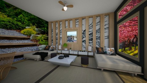 Holliday to Japan - Living room - by Tara T