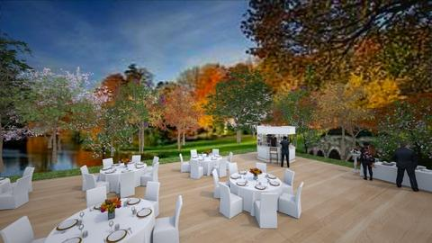 Outdoor Wedding Dining - by trishk82