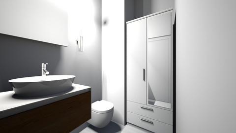 mieszkanie wersja 1 - Modern - Bathroom - by klaudiadrw