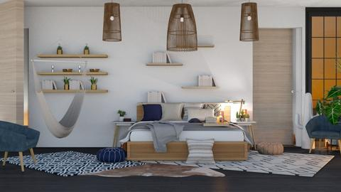 Modern Boho 1 - Modern - Bedroom - by NEVERQUITDESIGNIT