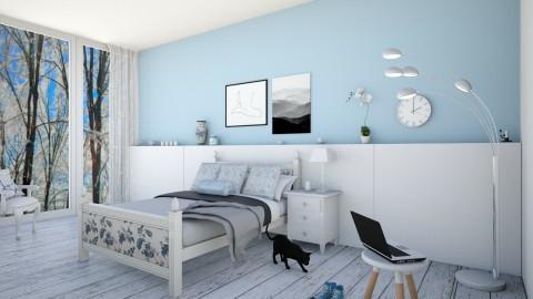Blue on White - Bedroom - by Design_CG