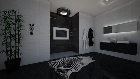 Zebra Bathroom - Bathroom - by Scarlet_33