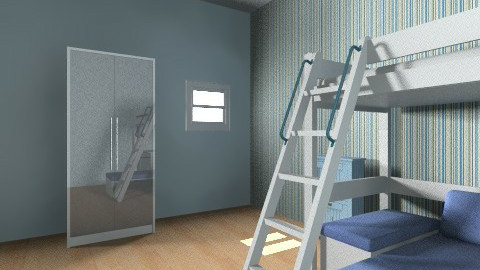 Boys Bedroom  - Retro - Kids room - by charloldfield