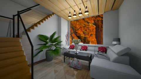 Living room - by kenziexoxo