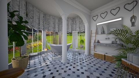 swan - Vintage - Bathroom - by donella