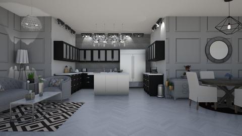 Monochromatic Living - Modern - Living room - by stokeshannah