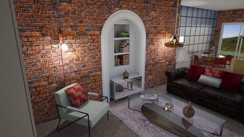 Glass brick - Living room - by The quiet designer