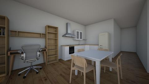 One bedroom - Kitchen - by Jacqueline De la Guia
