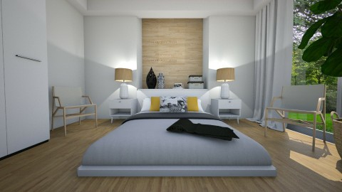 Bed on the floor - Modern - Bedroom - by Tuija