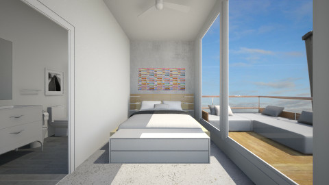 Container Home - Bedroom - by murphystaging