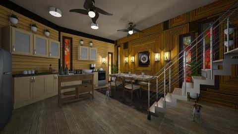 cabin kitchen - Country - Kitchen - by kla