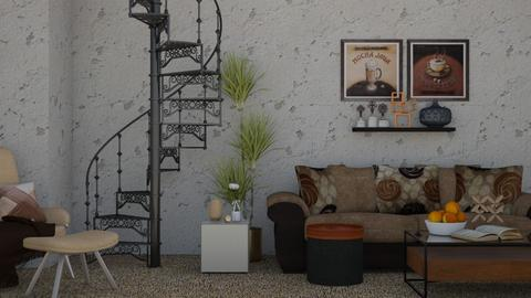 In the Basement - Rustic - Living room - by millerfam