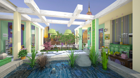 roof - Garden - by Aurora Boreas