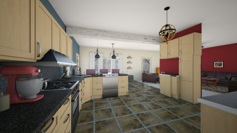 Kitchen and Living - Kitchen - by hmbennet