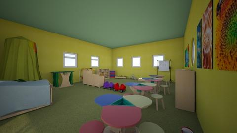 Kindergarten_green_room - Kids room - by Garfield isa cat