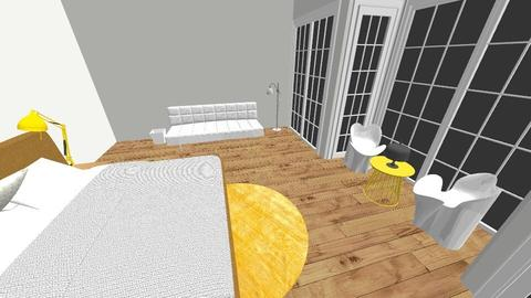 yellow hotel room - Bedroom - by Deanna Kelleher