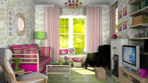 Bright bungalow living room - Retro - Living room - by alleypea