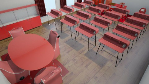 Red Classroom For Coach K - Retro - Kids room - by 2Ashley6Rowland