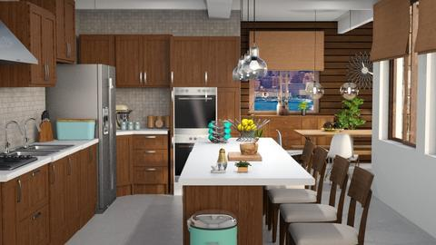 Mid century kitchen - Kitchen - by Moonpearl
