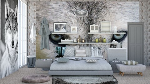 Grey Wolf - Modern - Bedroom - by InteriorDesigner111