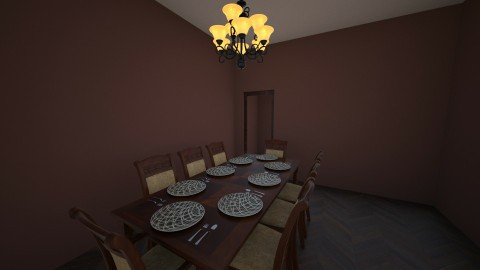 rustic dining room - Rustic - Dining room - by shadowscythe