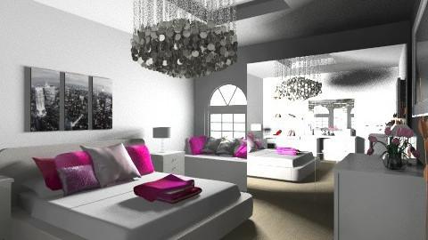 room pink  - Bedroom - by naat29