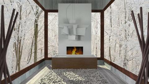 warm - Feminine - Bathroom - by Juliette Colas