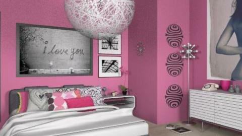 teenage girl - Retro - Bedroom - by Andrea_