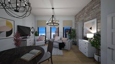 City Living Pink - Living room - by Madalynng