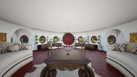 Hobbit Hole - Living room - by SammyJPili