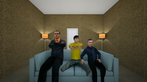 boys living room - Living room - by r_icy