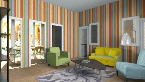 50s style - Vintage - Living room - by Jacquie Ru