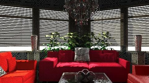 we got red sofa's :P - Modern - Living room - by nithiaChackochen