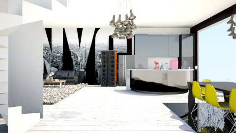 Loft - Living room - by MadmoiselleStrange