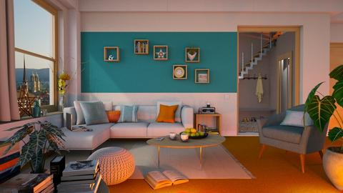 Orange Carpet - Living room - by Mandine