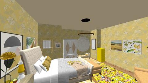 Brightly Yellow - Bedroom - by bvbstyle08