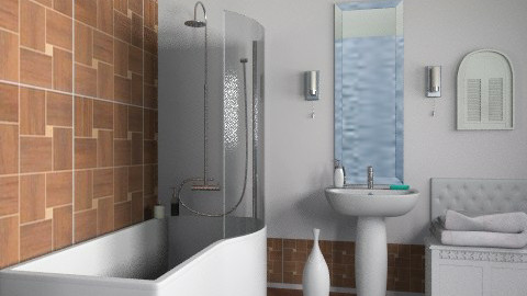 Simple  - Minimal - Bathroom - by milyca8