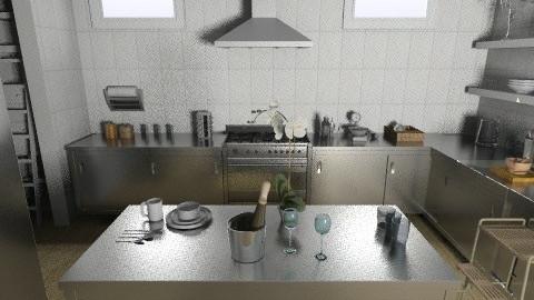 little kitchen - Minimal - Kitchen - by rosiedoll