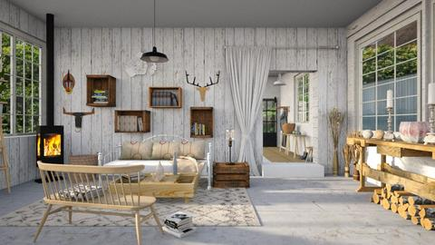 shabby chic - Country - Living room - by kitty