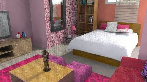 pink  - Glamour - Bedroom - by sahfs